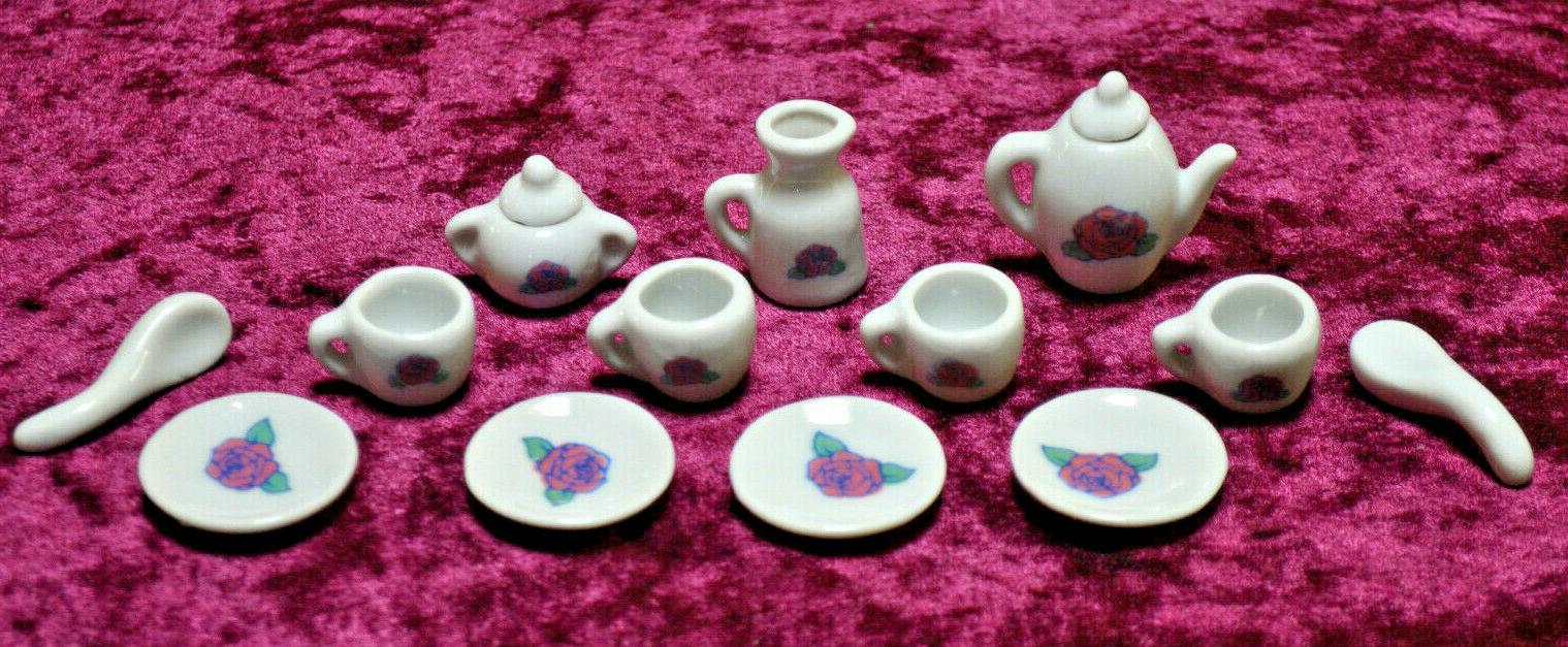 Tea Set Little Miniature Ceramic china Toy Hobby