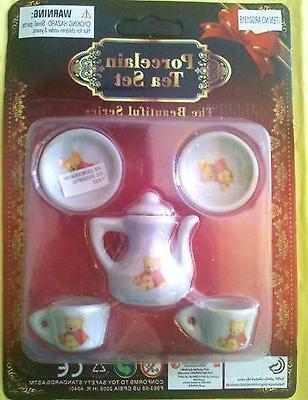 TEA Bear Collector Girl TOY Doll House Decor