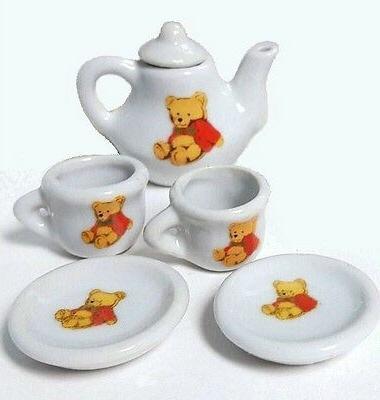 tea set miniature porcelain bear teapot collector