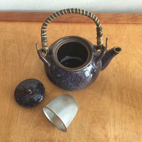 Teavana Stoneware Set Blue And Teacup Set