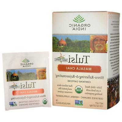 Organic Tulasi Tea, Chai Masala 18 ct by Organic India