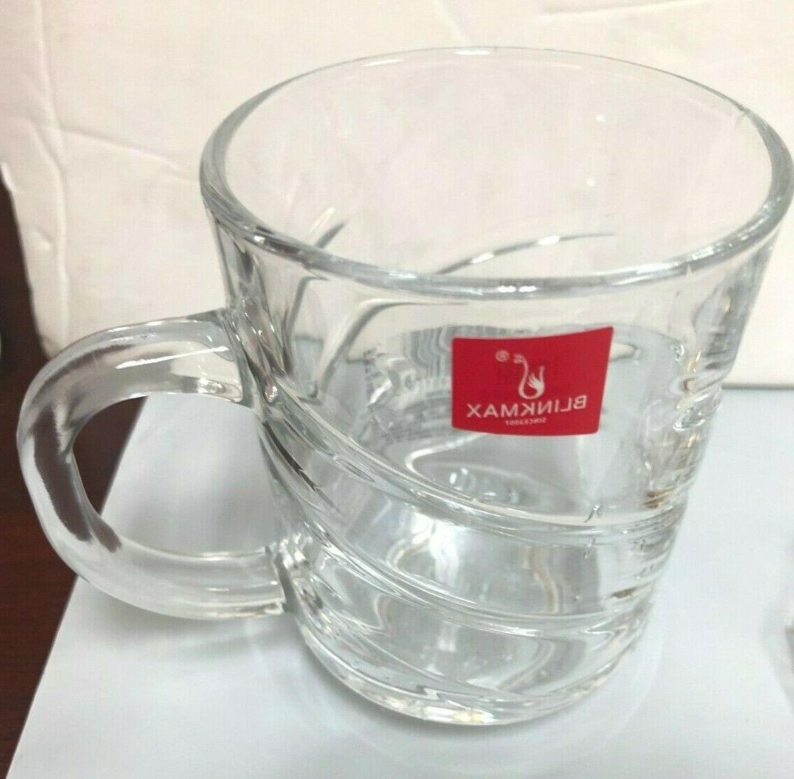 Turkish Tea glass /Cups Set of 6 with handle /Tea-Matte ...mug