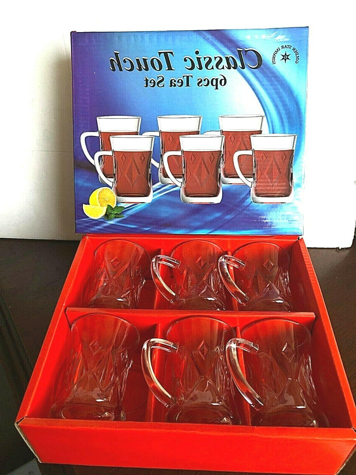 Turkish Tea glass /Tea Cups Set Clear ...