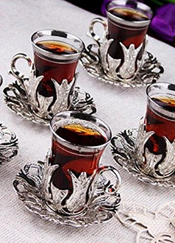 6 CopperBull Turkish with Saucers Spoons
