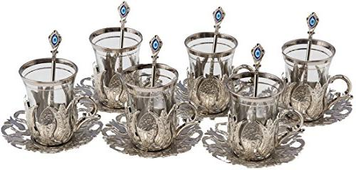 6 X CopperBull Turkish Tea with Spoons