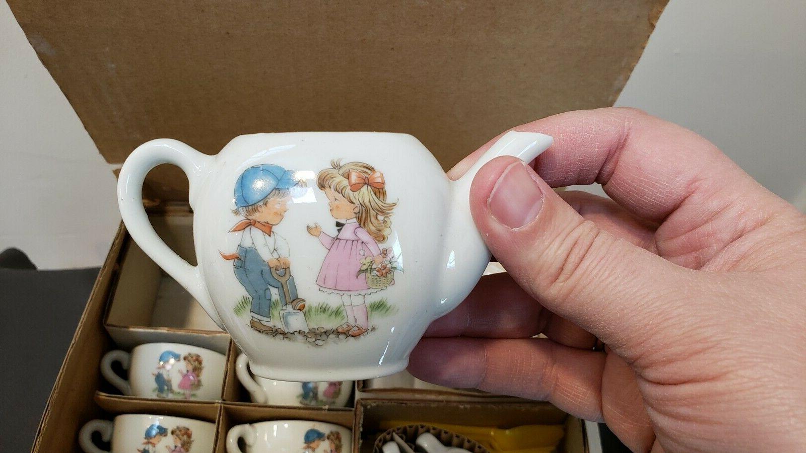 Vintage Made Japan China Piece Play w/Girl
