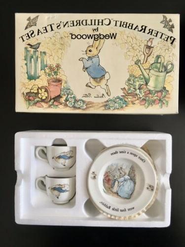 Vintage BEATRIX Rabbit Tea Set Wedgwood NIB,