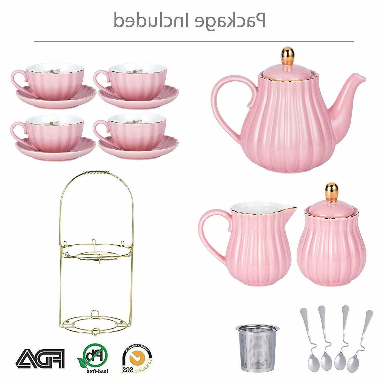 Vintage Set Porcelain Set Pc High Quality Pink