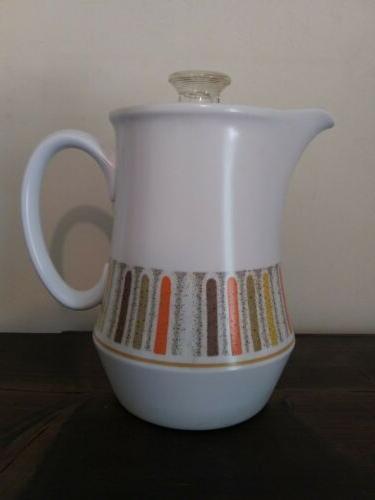 Vtg 60s Noritake Gras Percolator Set Pot Cream Sugar Cup