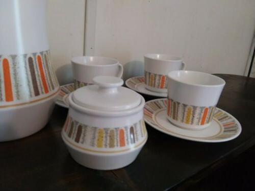 Vtg 60s Gras Percolator Tea Set Pot
