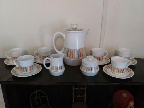 vtg 60s mardi gras percolator coffee tea