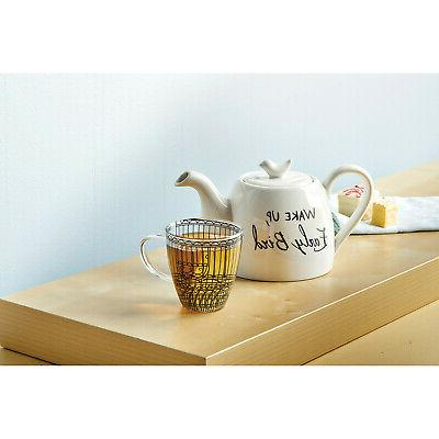 Wake Up, Early Tea Set, One Cup Ceramic Glass Mug