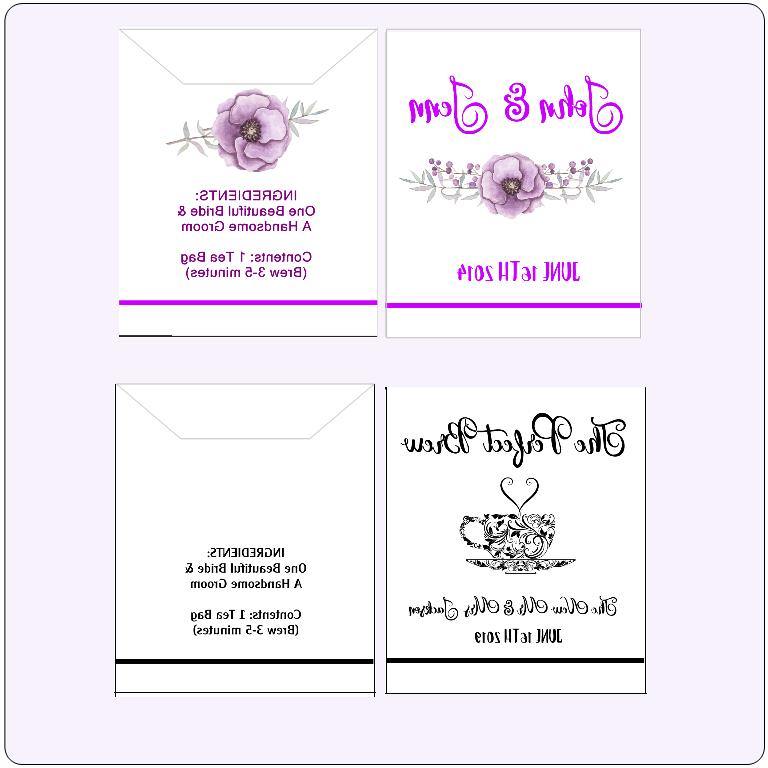 Wedding Tea Personalized Favor Set of