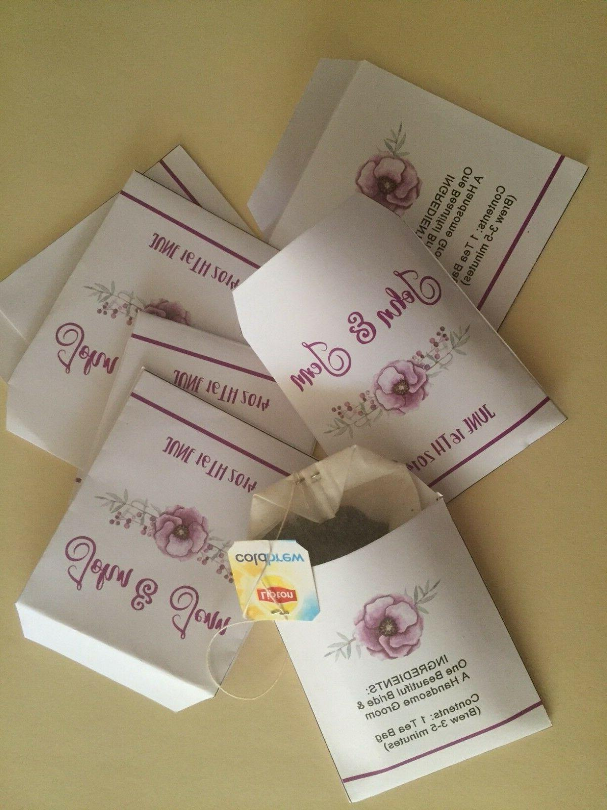 Wedding Tea Bag Personalized Party Favor of