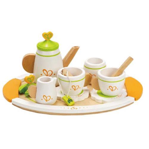 Hape Wooden Tea Set for 2 Teapot Party Pretend Kitchen Play