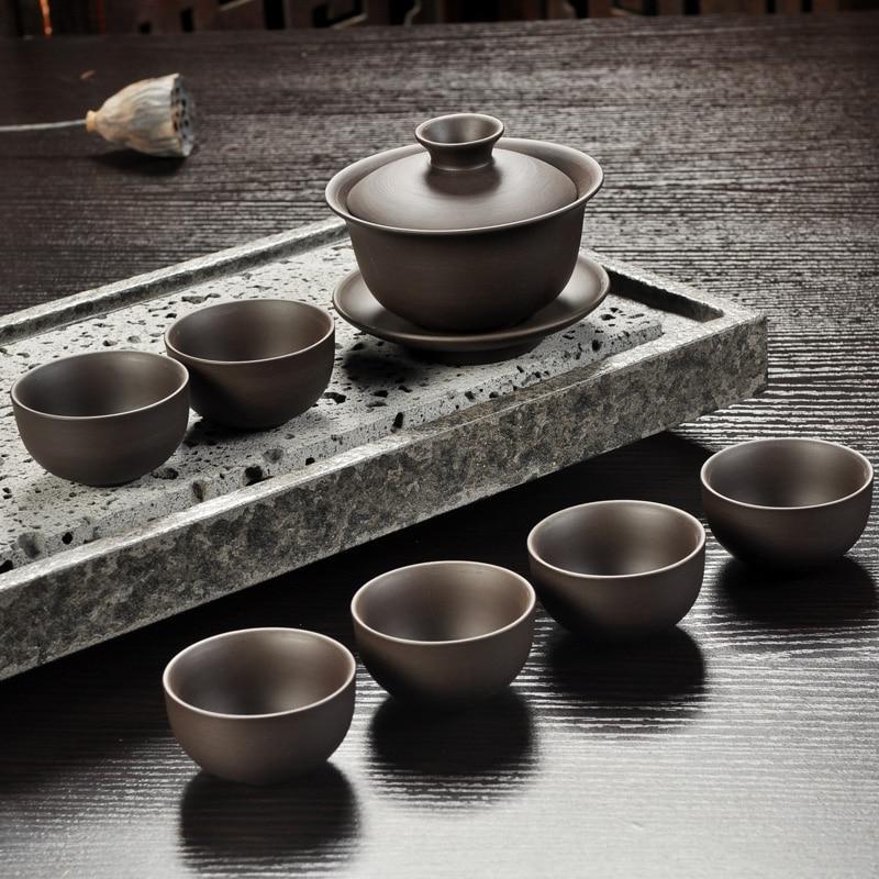 Yixing tea <font><b>set</b></font> sand <font><b>teacup</b></font> gaiwan Tureen ceremony