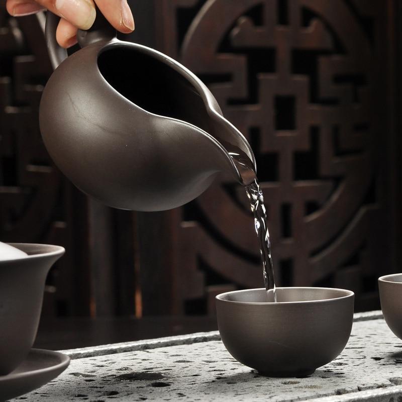 Yixing <font><b>set</b></font> black/red ceramic kung fu Teapot, Purple sand teapot Tureen tea ceremony