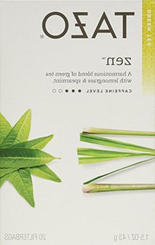 Tazo Zen Green Tea, 20 Count