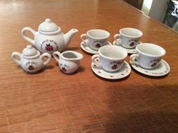 Schylling Ladybug Porcelain Tea Set Child Mini Set for Child