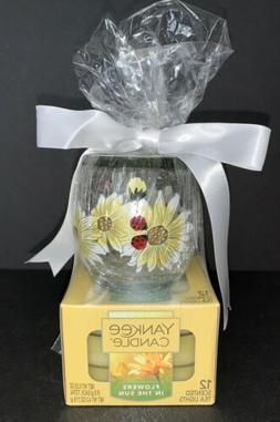 Yankee Candle LADYBUG Tea Light GIFT SET / 12 Flowers In The