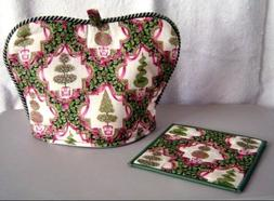 Large Christmas Tea Cover & Hot Pad Set