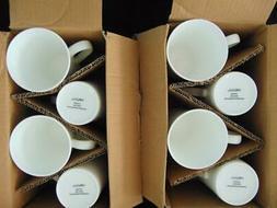 "MIKASA ""LAUSANNE"" SET OF 8 BONE CHINA COFFEE/TEA MUGS - NEW"