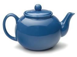 RSVP International Large Stoneware 6-Cup Teapot, Light Blue,