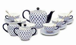 Lomonosov 15-pc Dining Tea Cup Set, Russian Saint Petersburg