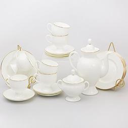 Imperial / Lomonosov Porcelain 20-piece Coffee Set for 6 Per