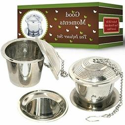 Good Moments Loose Leaf Stainless Steel Tea Infuser Set  wit