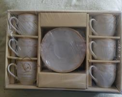 Lorren Home Trends  Porcelain 12 piece Tea Set Service for 6