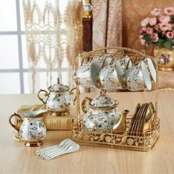 DELISI Luxury European-Style Gold-Plated Ceramic Coffee and