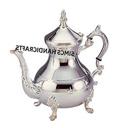 Luxury Original Moroccan Chrome Plated Brass Teapot Coffee K