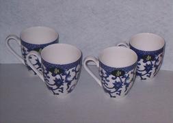 RALPH LAUREN MANDARIN BLUE  COFFEE TEA CUPS MUGS - SET OF 4