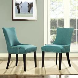 Modway Marquis Fabric Dining Side Chair in Teal
