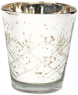 Insideretail Mercury Glass Silver Tea Light Holders with Dis
