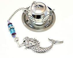 Mermaid Tea Infuser with Blue & Purple Beads