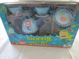 mermaid tin tea set 15 pc food