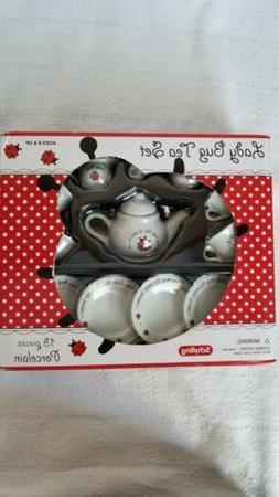 Mini Ladybug Porcelain Tea Set 13 pieces NIB