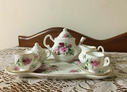 Miniature Royal Patrician Bone China Roses Tea Set 10 pc  St