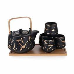 Hinomaru Collection Modern Style Marble Design Porcelain Tea