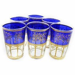 Moroccan Meknes Blue Tea Glasses  Teapots &amp Coffee Server