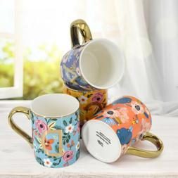 mugs set of 4 12oz floral mugs