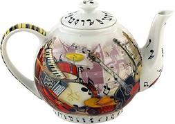 Cardew Design 4 Cup Music Teapot, 30 oz, Multicolor