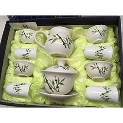 """Music Teapots City Tea"" Gaiwan Set, A Pure White With Bambo"
