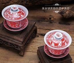 MusicCityTea Gaiwan Wedding Set 2 / Set YuanYian #13