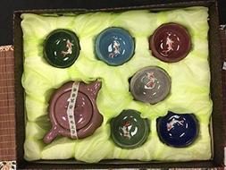 Musiccitytea Ice Crack tea set with fish Tea Cups 6 of Set f