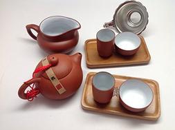 MusicCityTea Yixing Tea Set Red 4oz Tea Pot 9pcs Best Seller