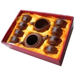 Musiccitytea Yixing Tea Set with Black and White Set 30pcs L