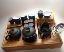Musiccitytea Yxing Clay Tea Set Black Tea Set Medium Bamboo